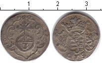 Изображение Монеты Саксония 3 пфеннига 1676 Серебро
