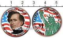Изображение Цветные монеты США 1 доллар 2010  UNC 14-й президент. Фран