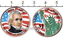 Изображение Цветные монеты США 1 доллар 2009  UNC 11-й президент. Джей