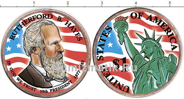 Картинка Цветные монеты США 1 доллар  2011