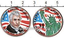 Изображение Цветные монеты США 1 доллар 2009  UNC 9-й президент. Уилья
