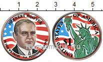 Изображение Цветные монеты США 1 доллар 2014  UNC