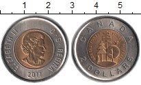 Изображение Мелочь Канада 2 доллара 2011 Биметалл UNC 100-летие парков Кан