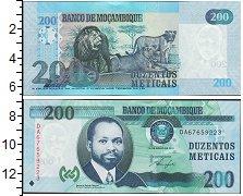 Изображение Боны Мозамбик 200 метикаль 2011  UNC Львы