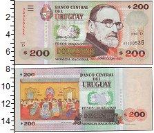 Изображение Банкноты Уругвай 200 песо 2009  UNC-