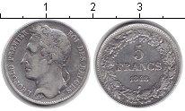 Изображение Монеты Бельгия 5 франков 1848 Серебро VF