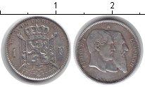 Изображение Монеты Бельгия 1 франк 1880 Серебро XF 50-летие Королевства