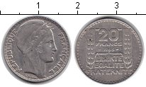 Изображение Монеты Франция 20 франков 1933 Серебро XF