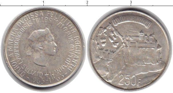 Картинка Монеты Люксембург 250 франков Серебро 1963