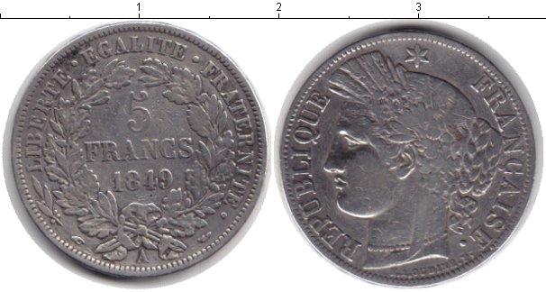 Картинка Монеты Франция 5 франков Серебро 1849