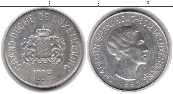 Картинка Монеты Люксембург 100 франков Серебро 1963