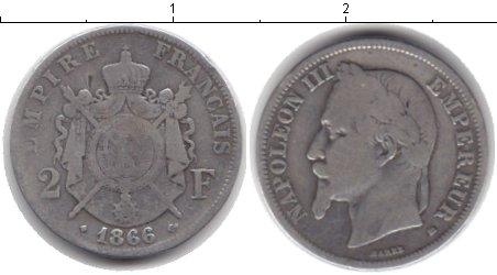 Картинка Монеты Франция 2 франка Серебро 1866