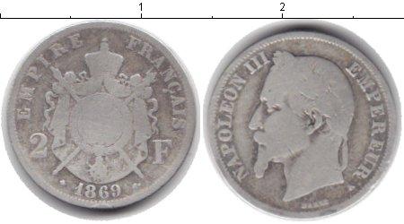 Картинка Монеты Франция 2 франка Серебро 1869