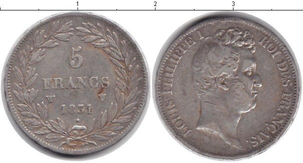 Картинка Монеты Франция 5 франков Серебро 1851