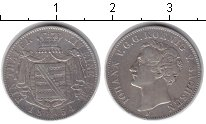 Изображение Монеты Саксония 1 талер 1854 Серебро XF Иоганн