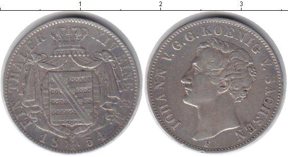 Картинка Монеты Саксония 1 талер Серебро 1854