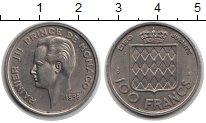 Изображение Монеты Монако 100 франков 1956 Медно-никель XF Райнер III