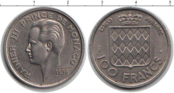 Картинка Монеты Монако 100 франков Медно-никель 1956