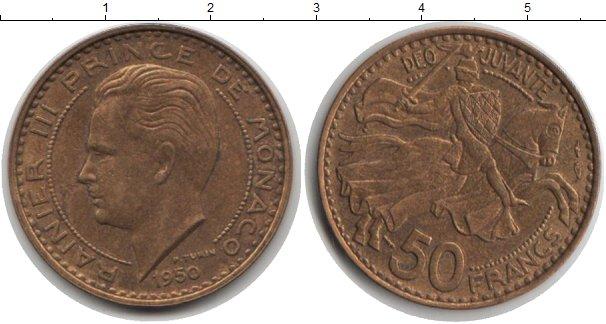 Картинка Монеты Монако 50 франков  1950