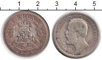 Изображение Монеты Швеция 1 крона 1901 Серебро VF Оскар II