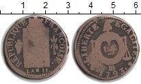 Изображение Монеты Франция 1 соль 1793 Медь VF