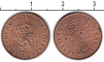 Изображение Монеты Нидерландская Индия 2 1/2 цента 1945 Медь UNC-
