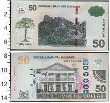 Изображение Боны Суринам 50 долларов 0  UNC- Горы. Здание