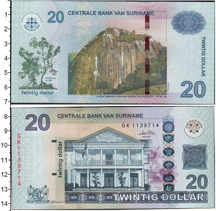 Картинка Боны Суринам 20 долларов  0
