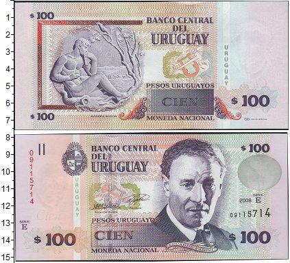 Картинка Боны Уругвай 100 песо  2008