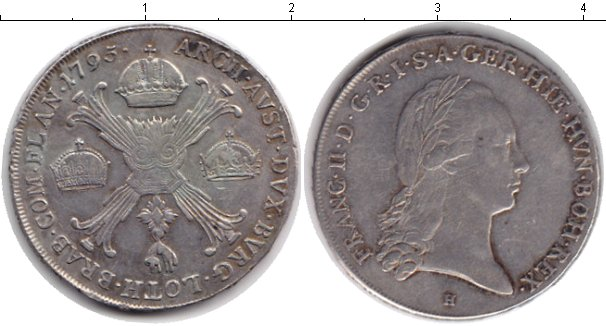 Картинка Монеты Габсбург 1 талер Серебро 1795