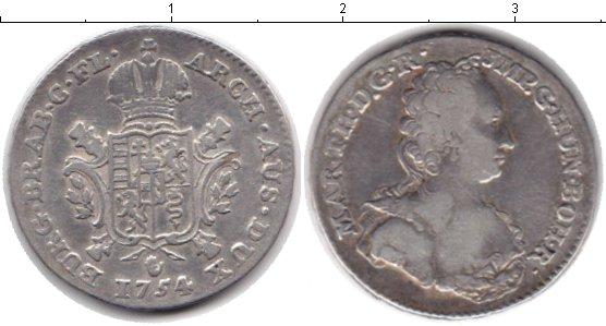 Картинка Монеты Австрия 1/2 талера Серебро 1754