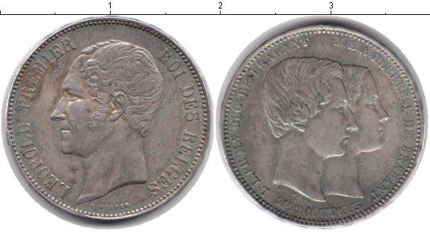 Картинка Монеты Бельгия 5 франков Серебро 1853