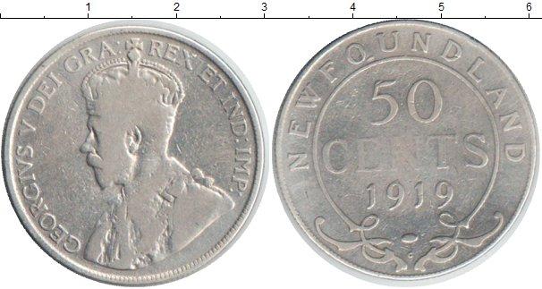 Картинка Монеты Ньюфаундленд 50 центов Серебро 1919