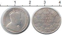 Изображение Монеты Канада 10 центов 1910 Серебро VF Эдвард VII