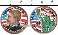 Изображение Цветные монеты США 1 доллар 2013 Медно-никель UNC- 26-й президент США Т