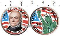 Изображение Цветные монеты США 1 доллар 2007 Медно-никель UNC- 6-й президент США Дж