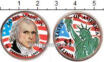 Изображение Цветные монеты США 1 доллар 2007 Медно-никель UNC- 4-й президент США Дж