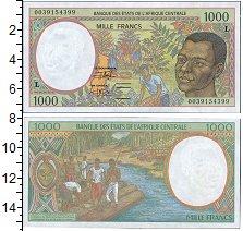 Изображение Боны Габон 1.000 франков 0  UNC- Мужской портрет, сбо