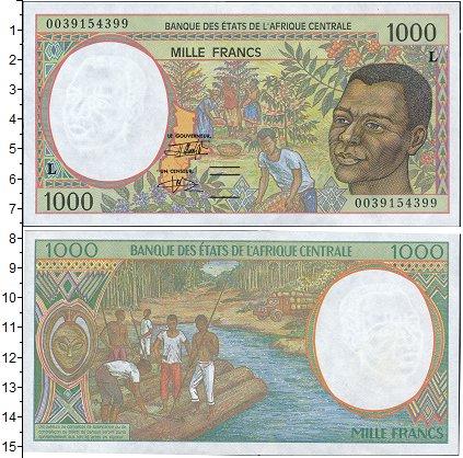 Картинка Боны Габон 1.000 франков  0