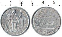 Изображение Монеты Полинезия 2 франка 1996 Алюминий XF