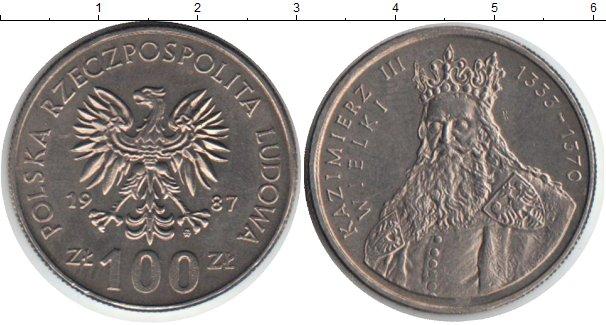 Картинка Монеты Польша 100 злотых Медно-никель 1987