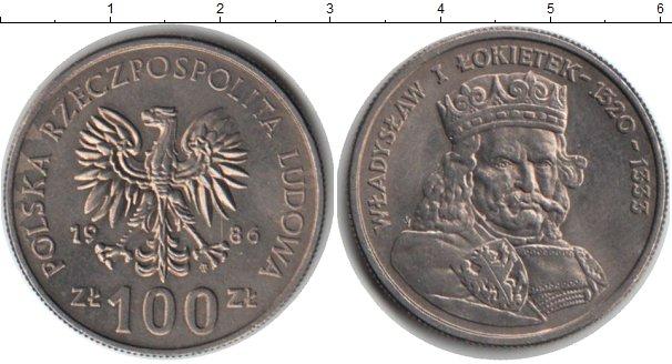 Картинка Монеты Польша 100 злотых Медно-никель 1986
