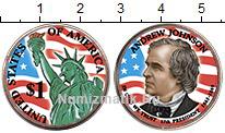 Изображение Цветные монеты США 1 доллар 2011  UNC Эндрю Джонсон