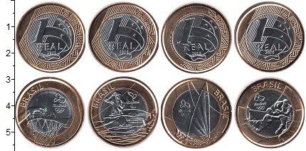 Изображение Наборы монет Бразилия Бразилия 2015 2015 Биметалл UNC В наборе 4 монет ном