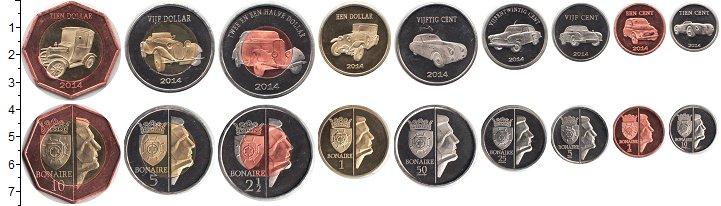 Изображение Наборы монет Бонайре Бонайре 2014 2014  UNC В наборе 9 монет ном