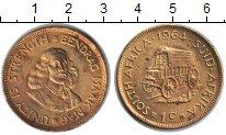 Изображение Монеты ЮАР 1 цент 1964  XF Ян ван Рибек