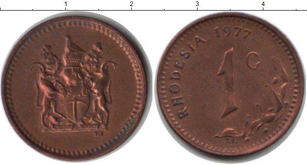 Картинка Монеты Родезия 1 цент Медь 1977