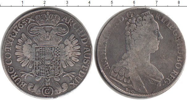 Картинка Монеты Австрия 1 талер Серебро 1765