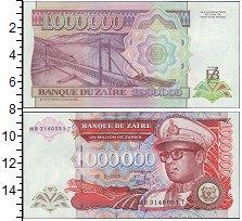 Изображение Боны Заир 1000000 заир 0  UNC- Портрет Мобуту. Подв