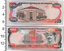 Изображение Боны Никарагуа 5000 кордоб 0  UNC- Генерал Зеледон